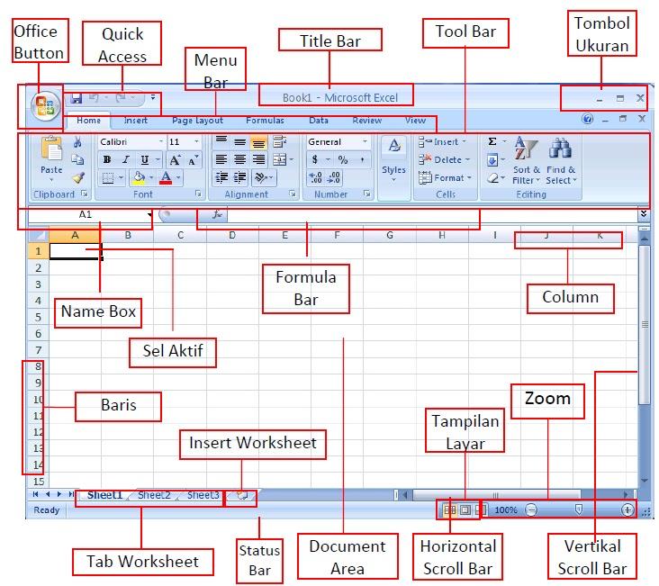 Bagian Bagian Dalam Microsoft Excel 2007 Nur Alfian