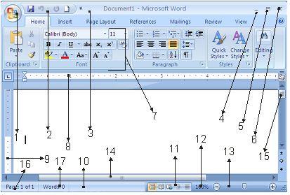 Bagian – Bagian Dalam Microsoft Word 2007